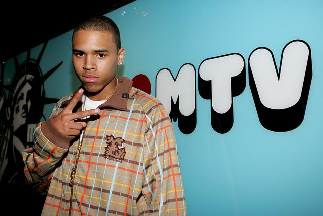 Chris Brown at TRL