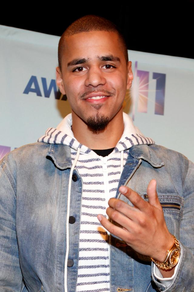 J. Cole at the BET Awards Nominees Announcement 2011