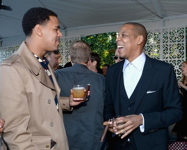 Jay Z and J. Cole at  Roc Nation brunch