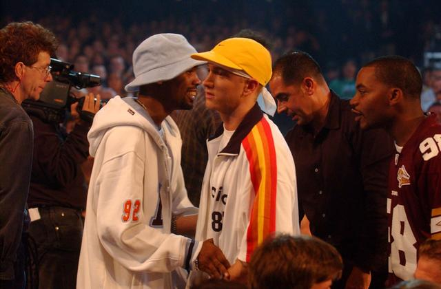 Eminem and Proof at the 2002 MTV VMAs