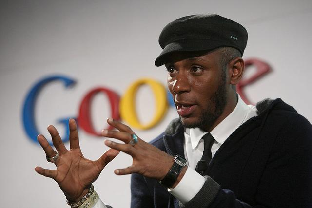 Recording artist Mos Def helps Google announce new search capabilities to facilitate online music distribution during an event at the Capitol Records building on October 28 in Hollywood, California. Google is partnering with several companies including MySpace Music, Lala, Pandora and Imeem, all of which have licensing agreements with record companies to download samples and streams of millions of songs online. Among other services, Google is offering free steaming of songs in searches based on portions of the lyrics or musician names.