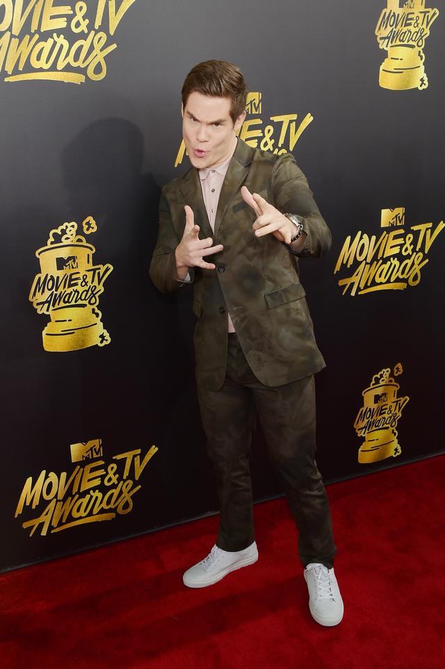 Adam DeVine at the MTV Movie & TV awards red carpet 2017