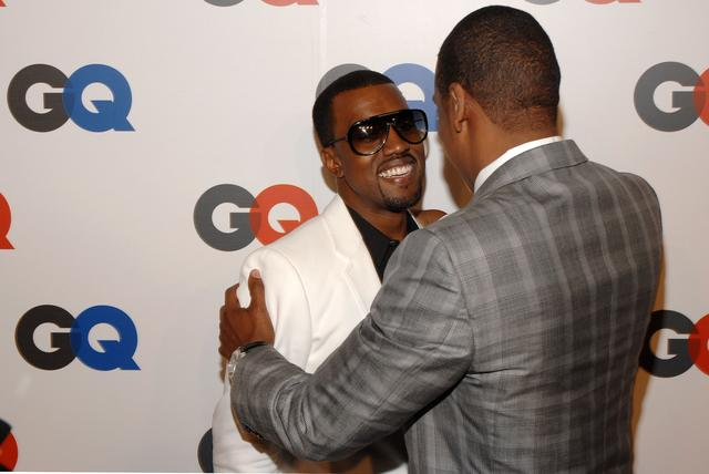 Top 10 kanye west produced jay z tracks jay z and kanye hugging malvernweather Image collections