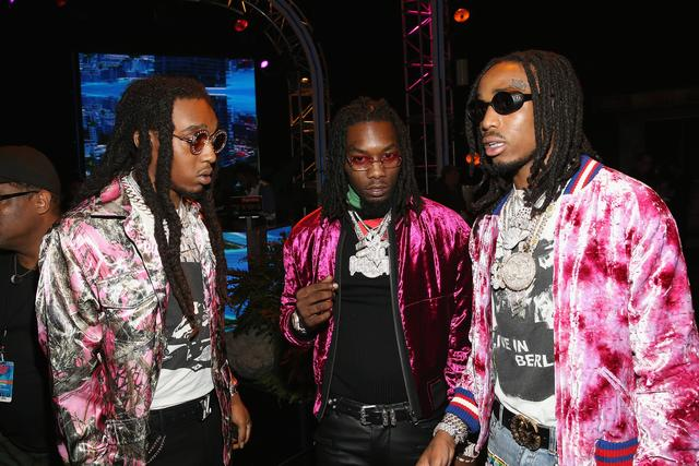 Migos backstage at the BET Awards