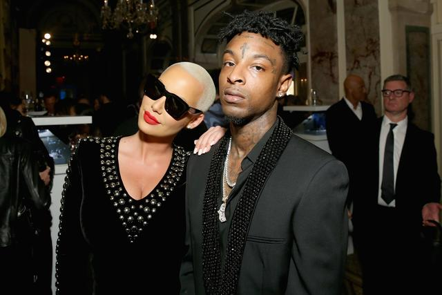 Amber Rose and 21 Savage together