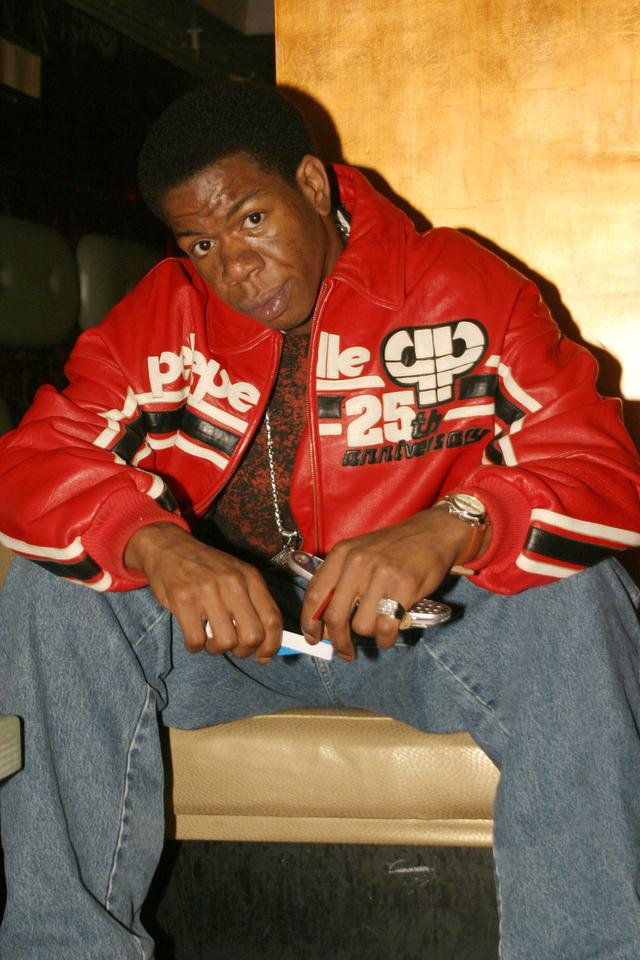 Craig Mack in red leather coat
