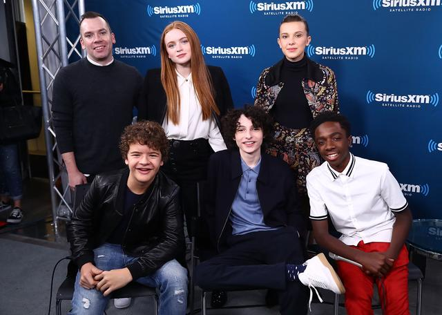 Cast of Stranger Things at Sirius Radio