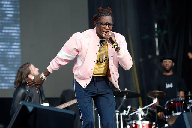 Young Thug live on stage