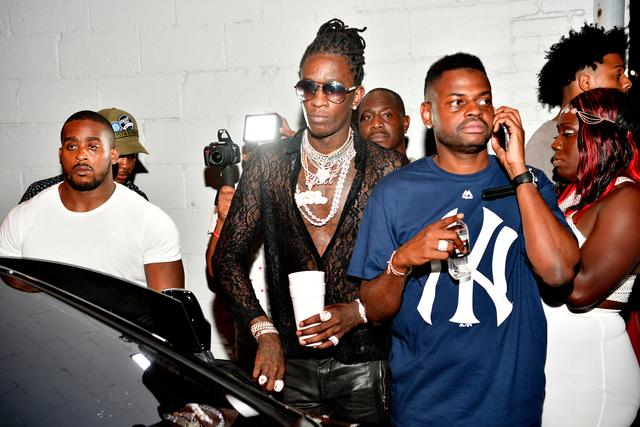 Young Thug at his birthday party in ATL