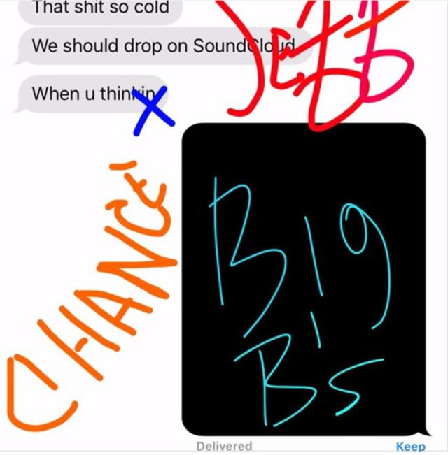 "Chance The Rapper - ""Big B's (ft. Young Thug)"" single art"