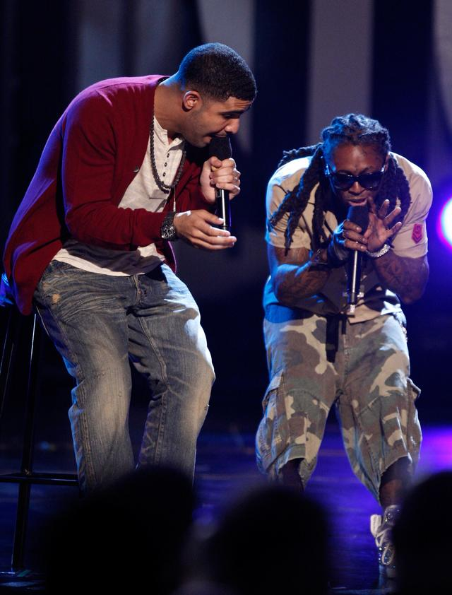 Lil Wayne and Drake at the 2009 BET Awards
