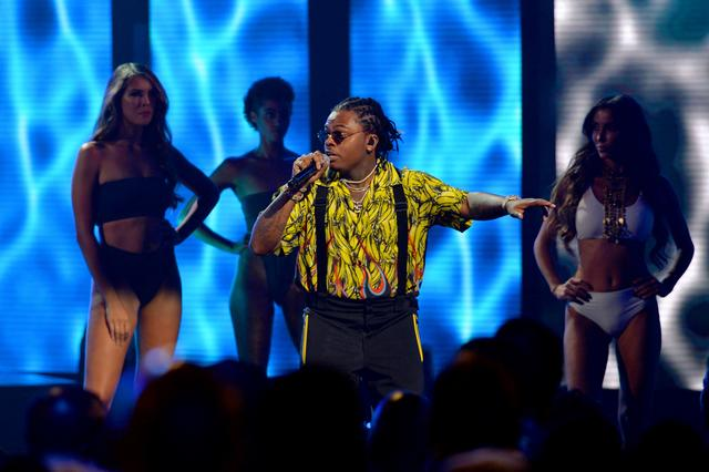 Gunna performs onstage during the BET Hip Hop Awards 2018 at Fillmore Miami Beach on October 6, 2018 in Miami Beach, Florida.
