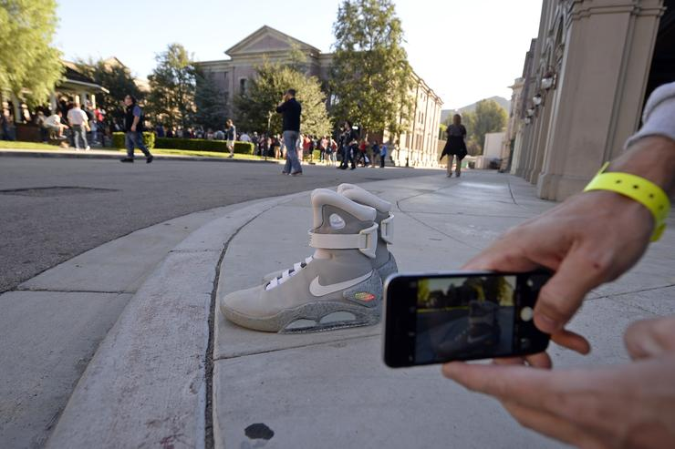 The Nike Air Mag at Back To The Future day.