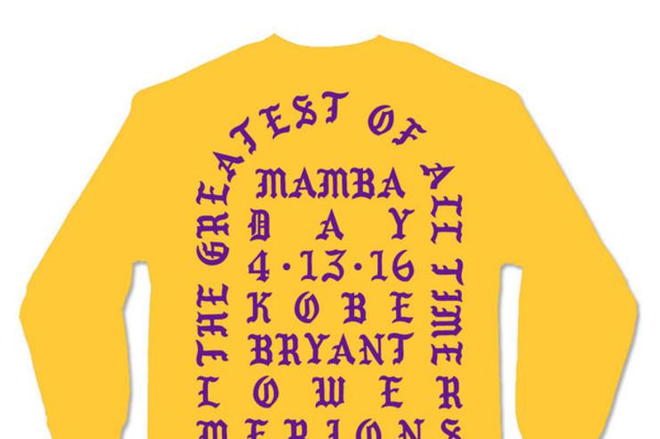 "backside of Kanye's ""Black Mamba"" shirt"
