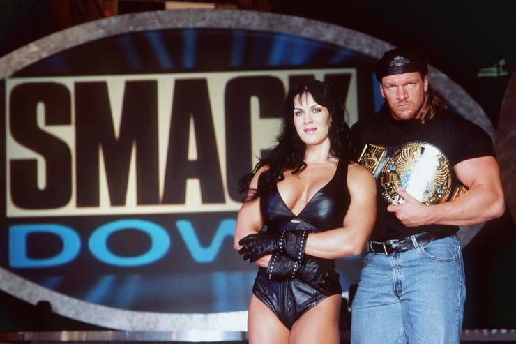 1999 Chyna And Hhh In Wwf Smackdown. Photo Wwf Ent.