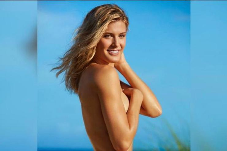 Genie Bouchard poses for Sports Illustrated Swimsuit Edition.