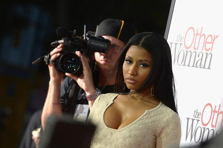 Nicki Minaj attends the premiere of Twentieth Century Fox's 'The Other Woman' at Regency Village Theatre on April 21, 2014 in Westwood, California.