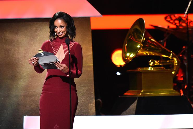 Singer Mya onstage at the Premiere Ceremony during The 59th GRAMMY Awards at Microsoft Theater on February 12, 2017 in Los Angeles, California.