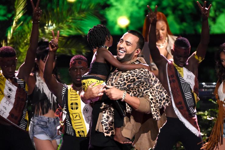French Montana performs onstage during the Teen Choice Awards 2017 at Galen Center on August 13, 2017 in Los Angeles, California.