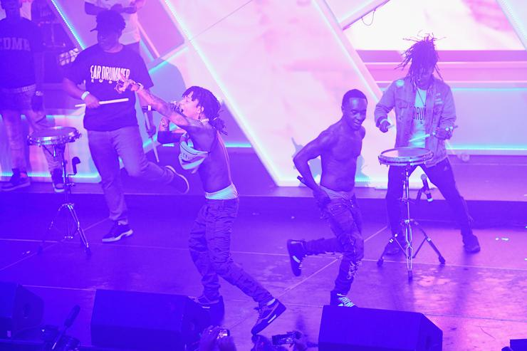 Swae Lee and Slim Jxmmy of Rae Sremmurd onstage at Spotify's RapCaviar Live at The Tabernacle on August 12, 2017 in Atlanta, Georgia.