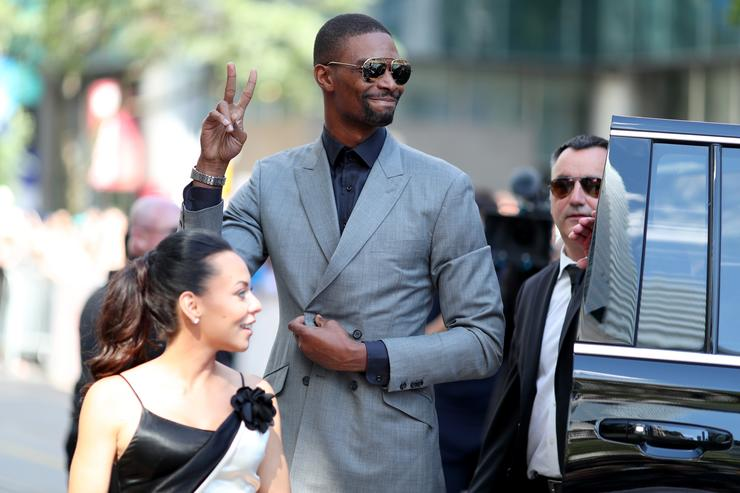 Chris Bosh (R) and Adrienne Bosh attend 'The Carter Effect' premiere during the 2017 Toronto International Film Festival at Princess of Wales Theatre on September 9, 2017 in Toronto, Canada.