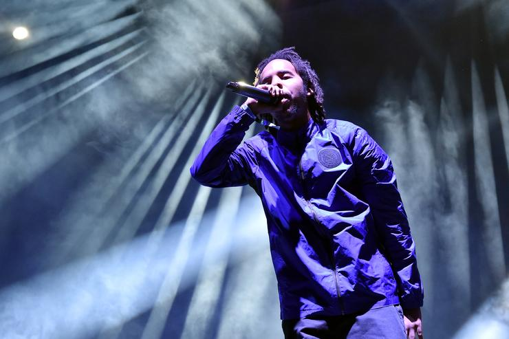 Earl Sweatshirt performs on Camp Stage during day two of Tyler, the Creator's 5th Annual Camp Flog Gnaw Carnival at Exposition Park on November 13, 2016 in Los Angeles, California.