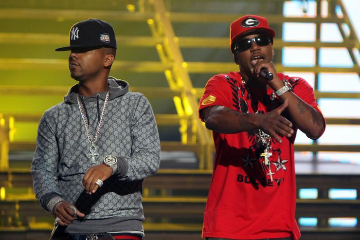 The Diplomats perform during the BET Hip Hop Awards '10 at Boisfeuillet Jones Atlanta Civic Center on October 2, 2010 in Atlanta, Georgia