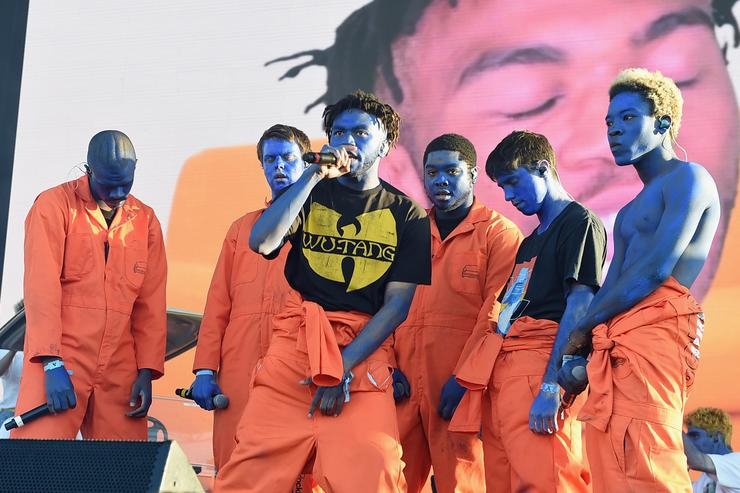 Brockhampton performs on Camp Stage during day 1 of Camp Flog Gnaw Carnival 2017 at Exposition Park on October 28, 2017 in Los Angeles, California