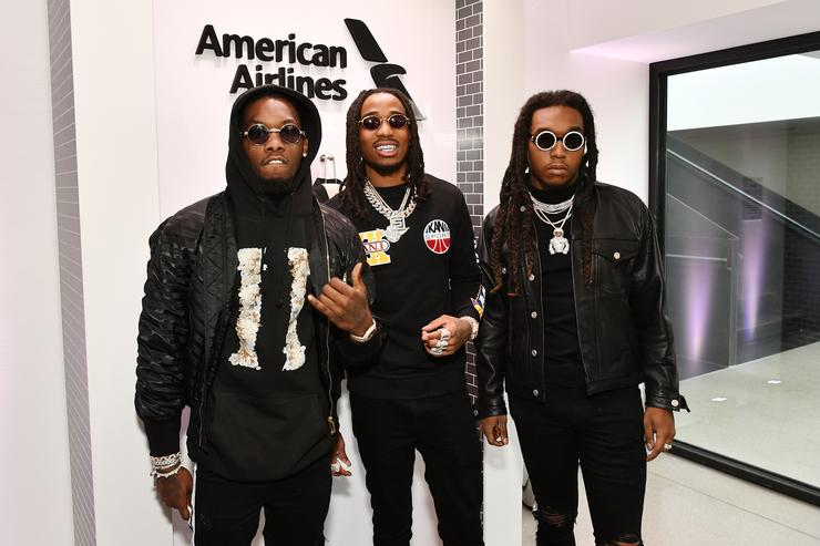 Offset, Takeoff, and Quavo from Migos attends Sir Lucian Grainge's 2018 Artist Showcase presented by Citi with support from Remy Martin on January 27, 2018 in New York City