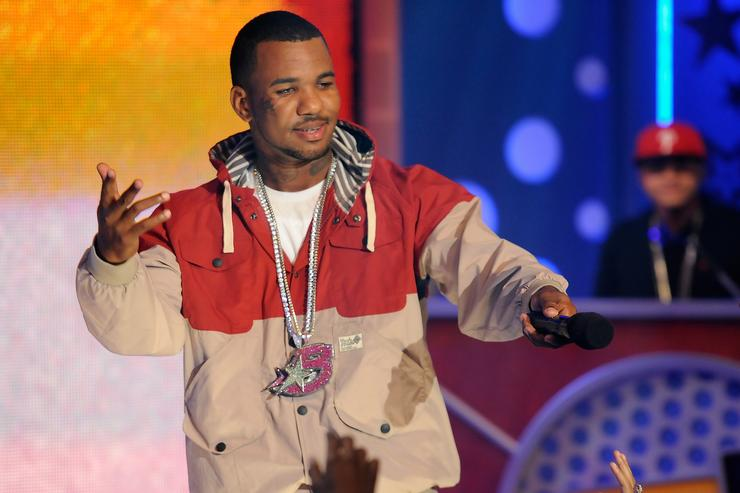 The Game performs during a visit to BET's '106 & Park' at BET Studios on August 4, 2011 in New York City
