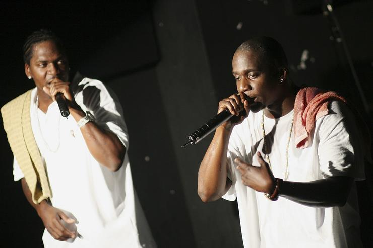 Pusha T and Malice of The Clipse perform during the CMJ Music Fest at The Knitting Factory November 4, 2006 in New York City