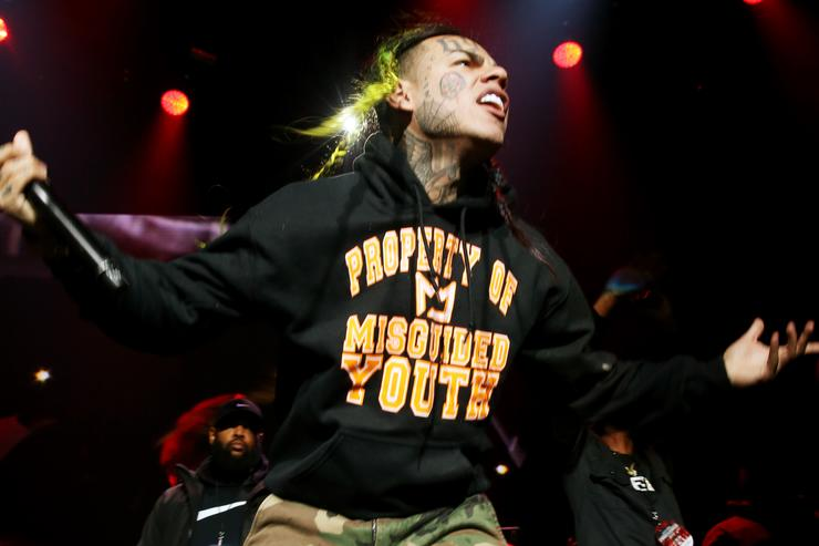 6ix9ine performs at Power 105.1's Powerhouse 2018 at Prudential Center on October 28, 2018 in Newark, New Jersey